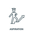 aspiration icon from education collection simple
