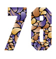 Beautiful floral numbers 7 and 8 vector image