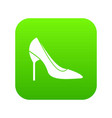 bride shoes icon digital green vector image vector image