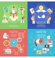 Business startup concept 4 flat banner vector image vector image