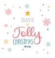 christmas typography design vector image vector image