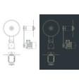 circular saw drawings vector image vector image