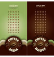 coffee menu vector image