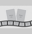 collage of photo frames from film template ideas vector image vector image