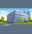 corporate business center modern office building vector image