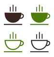 cup of coffee tea hot drink simple icon set vector image vector image