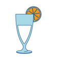 cup with orange juice vector image vector image