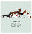 cute card with dogs different breeds vector image