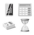 design of bank and money logo set of bank vector image