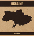 detailed map of ukraine on craft paper background vector image