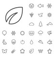 ecology outline thin flat digital icon set vector image