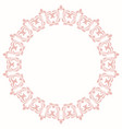 elegant round pink ornament in classic vector image vector image