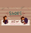 flat banner new collection of shoes store vector image