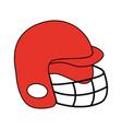 football helmet design vector image vector image