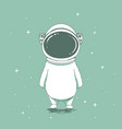 funny astronaut bear vector image vector image