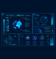 futuristic hud interface future hologram ui vector image