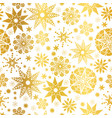golden abstract doodle stars seamless vector image