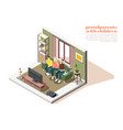 grandparents with children isometric composition vector image