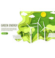 green energy web banner template paper cut vector image vector image