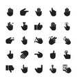 hand gestures glyph icons vector image