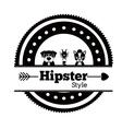 Hipster animal design vector image