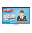hot news on tv vector image