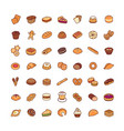 icons bakery vector image vector image