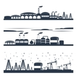 Industrial city skyline banners vector image vector image