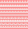 Large set of openwork lace borders for your design vector image