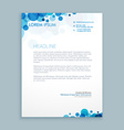 letterhead creative template vector image vector image