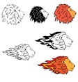 logo with the image of a lion vector image vector image