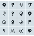 map location icons set 16 pointers symbols vector image vector image