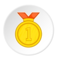 Medal with ribbon icon cartoon style vector image vector image