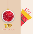 Merry christmas and happy new year 2017 ball vector image vector image