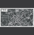 minsk belarus map in retro style vector image