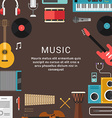 Musical Concept of Musical Instruments and Icons vector image