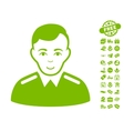 Officer Icon With Free Bonus vector image