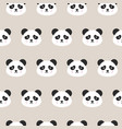 panda faces seamless pattern vector image