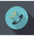 Paper flat icon call vector image