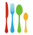 plastic cutlery children s vector image vector image