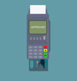 pos terminal and credit card isolated on vector image