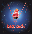 Poster Best sushi vector image vector image
