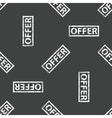 Rubber stamp OFFER pattern vector image vector image