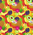 Seamless pattern of tropical fruit