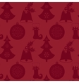 Seamless pattern with Christmas tree bell vector image vector image