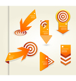 Set of orange labels for wide variety of use vector image vector image