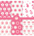 set of seamless patterns with abstract floral vector image vector image
