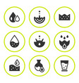 set round icons of water vector image vector image