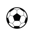 soccer ball flat icon vector image vector image