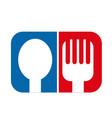 spoon fork icon vector image vector image